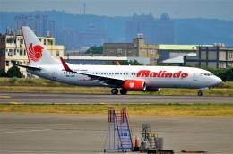 amagoさんが、台湾桃園国際空港で撮影したマリンド・エア 737-8GPの航空フォト(飛行機 写真・画像)