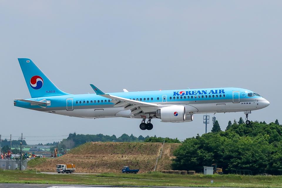らむえあたーびんさんの大韓航空 Airbus A220-300 (HL8315) 航空フォト