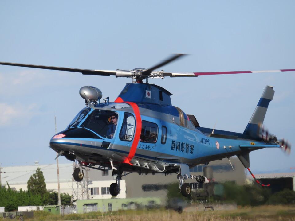 ランチパッドさんの静岡県警察 Agusta A109 (JA13PC) 航空フォト