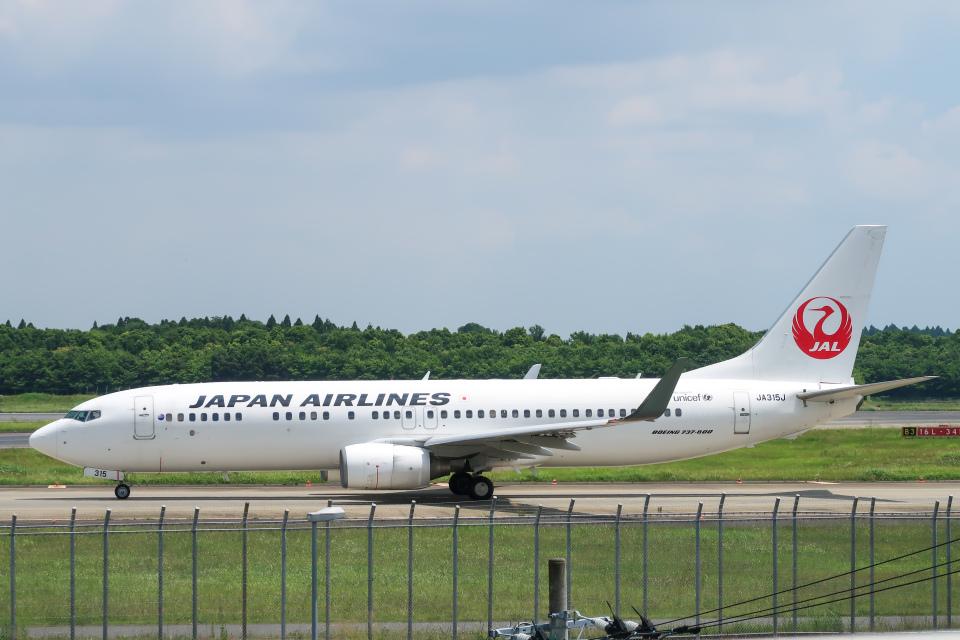 らむえあたーびんさんの日本航空 Boeing 737-800 (JA315J) 航空フォト