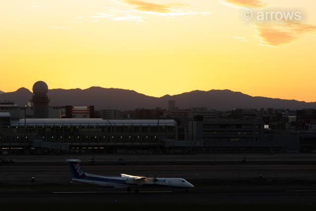 アローズさんが、福岡空港で撮影したエアーニッポンネットワーク DHC-8-402Q Dash 8の航空フォト(飛行機 写真・画像)