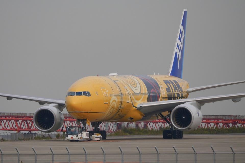 飛行機ゆうちゃんさんの全日空 Boeing 777-200 (JA743A) 航空フォト