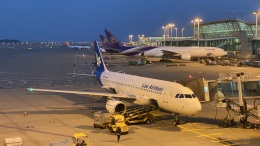 hachiさんが、仁川国際空港で撮影したラオス国営航空 A320-214の航空フォト(飛行機 写真・画像)
