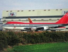 エルさんが、成田国際空港で撮影したノースウエスト航空 747-151の航空フォト(飛行機 写真・画像)