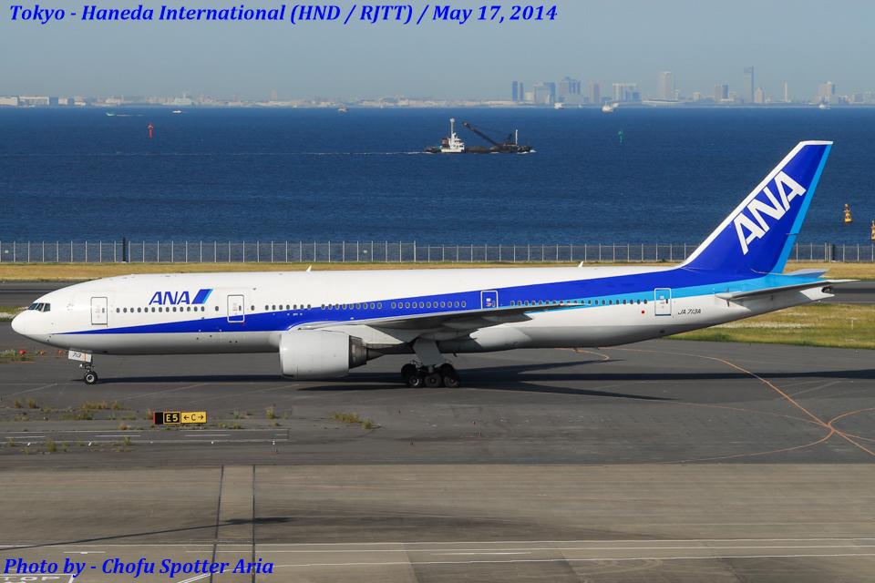 Chofu Spotter Ariaさんの全日空 Boeing 777-200 (JA713A) 航空フォト