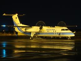 ここはどこ?さんが、札幌飛行場で撮影した海上保安庁 DHC-8-315 Dash 8の航空フォト(飛行機 写真・画像)