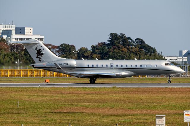 航空フォト:9H-OPE ビスタジェット BD-700 Global Express/5000/6000