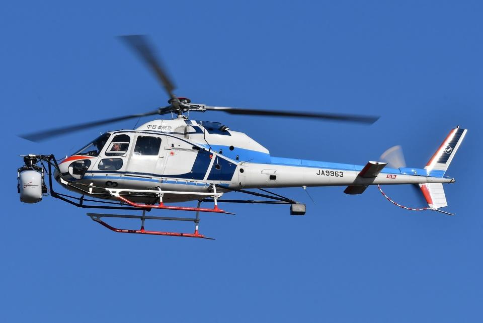 ブルーさんさんの中日本航空 Aerospatiale AS355 Ecureuil 2/TwinStar (JA9963) 航空フォト
