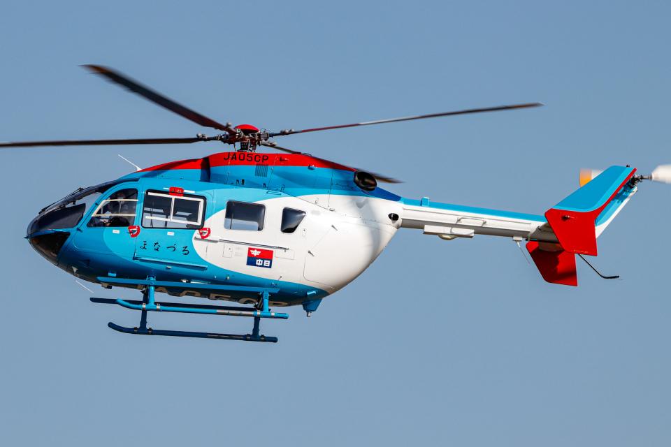 A.Tさんの中日新聞社 Kawasaki BK117 (JA05CP) 航空フォト