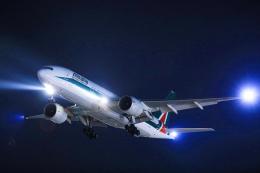 臨時特急7032Mさんが、福岡空港で撮影したアリタリア航空 777-243/ERの航空フォト(飛行機 写真・画像)