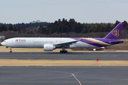 KoshiTomoさんが、成田国際空港で撮影したタイ国際航空 777-3D7/ERの航空フォト(飛行機 写真・画像)