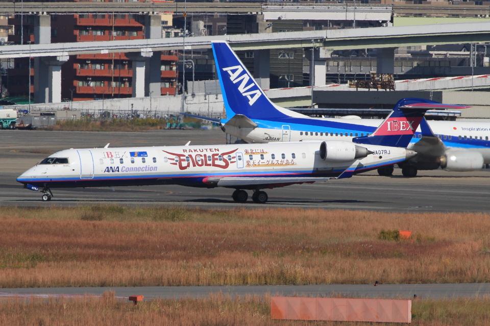 キイロイトリさんのアイベックスエアラインズ Bombardier CRJ-700 (JA07RJ) 航空フォト