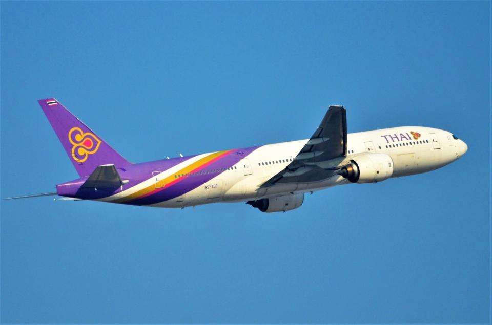 amagoさんのタイ国際航空 Boeing 777-200 (HS-TJB) 航空フォト