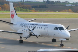 職業旅人さんが、女満別空港で撮影した北海道エアシステム 340B/Plusの航空フォト(飛行機 写真・画像)