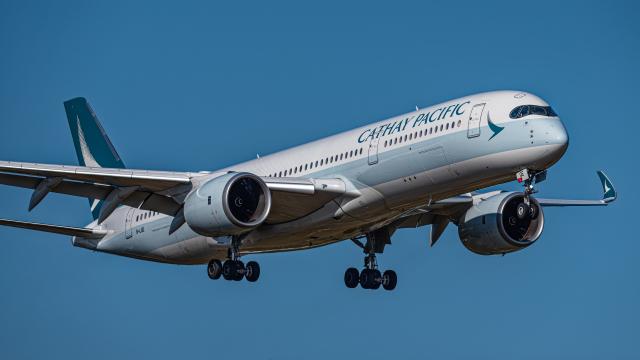 航空フォト:B-LQE キャセイパシフィック航空 A350-900