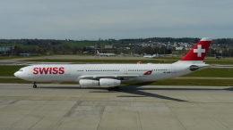 singapore346さんが、チューリッヒ空港で撮影したスイスインターナショナルエアラインズ A340-313Xの航空フォト(飛行機 写真・画像)