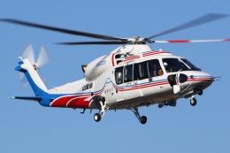 きりしまさんが、双葉滑空場で撮影した山梨県消防防災航空隊 S-76Dの航空フォト(飛行機 写真・画像)