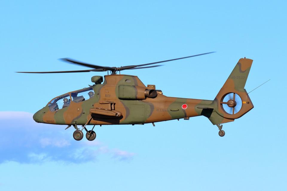 szkkjさんの陸上自衛隊 Kawasaki OH-1 (32637) 航空フォト