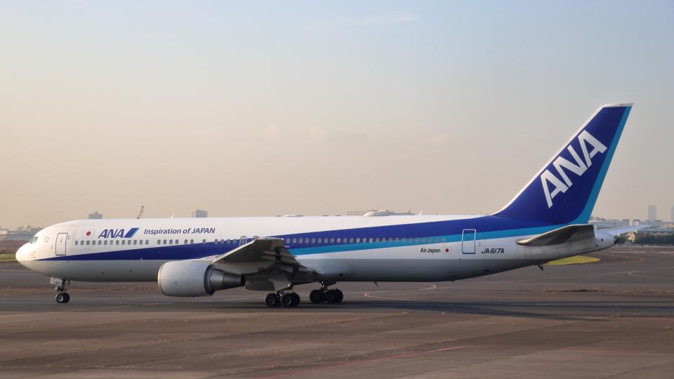 誘喜さんのエアージャパン Boeing 767-300 (JA617A) 航空フォト
