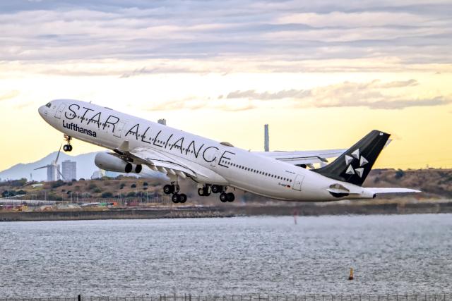 Cozy Gotoさんが、羽田空港で撮影したルフトハンザドイツ航空 A340-313Xの航空フォト(飛行機 写真・画像)