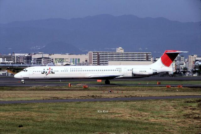 キットカットさんが、伊丹空港で撮影した日本航空 MD-81 (DC-9-81)の航空フォト(飛行機 写真・画像)