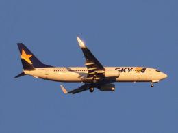 丸めがねさんが、羽田空港で撮影したスカイマーク 737-8ALの航空フォト(飛行機 写真・画像)