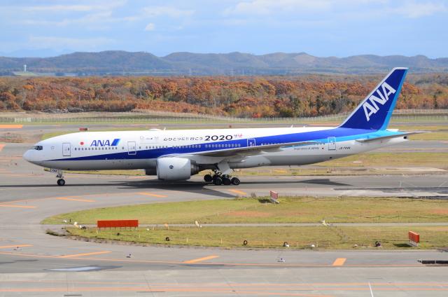 ITM58さんが、新千歳空港で撮影した全日空 777-281/ERの航空フォト(飛行機 写真・画像)