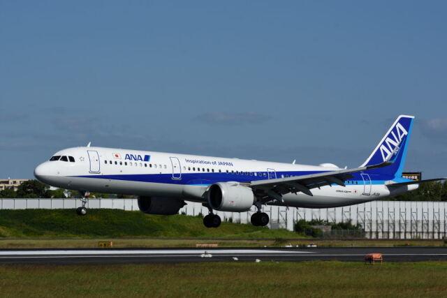 どんちんさんが、伊丹空港で撮影した全日空 A321-272Nの航空フォト(飛行機 写真・画像)