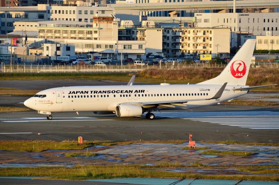 T.Sazenさんの日本トランスオーシャン航空 Boeing 737-800 (JA350J) 航空フォト