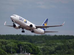 むらさめさんが、新千歳空港で撮影したスカイマーク 737-8Q8の航空フォト(飛行機 写真・画像)