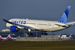 パンダさんが、成田国際空港で撮影したユナイテッド航空 787-9の航空フォト(飛行機 写真・画像)