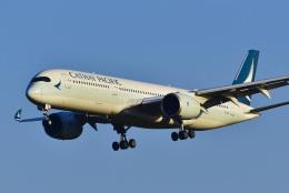 パンダさんが、成田国際空港で撮影したキャセイパシフィック航空 A350-941の航空フォト(飛行機 写真・画像)