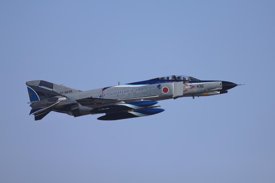 赤ちんさんの航空自衛隊 Mitsubishi F-4EJ Kai Phantom II (07-8436) 航空フォト