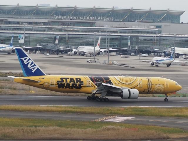 ayabehomaさんが、羽田空港で撮影した全日空 777-281/ERの航空フォト(飛行機 写真・画像)