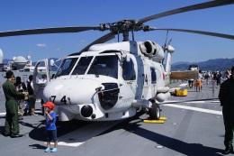 masahiさんが、静岡県静岡市清水区清水港日の出埠頭で撮影した海上自衛隊 SH-60Jの航空フォト(飛行機 写真・画像)