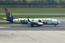 NIKEさんが、ウィーン国際空港で撮影したサンエクスプレス 737-8K5の航空フォト(飛行機 写真・画像)