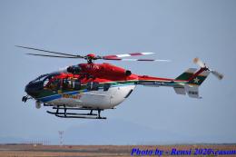れんしさんが、山口宇部空港で撮影した愛媛県消防防災航空隊 BK117C-2の航空フォト(飛行機 写真・画像)