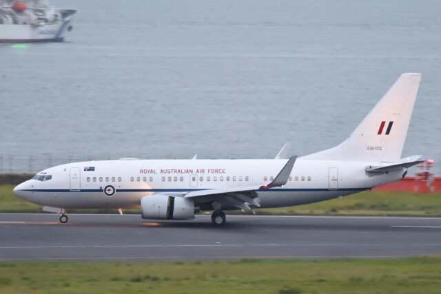 B747‐400さんが、羽田空港で撮影したオーストラリア空軍 737-7DF BBJの航空フォト(飛行機 写真・画像)