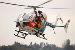 赤ちんさんが、つつみ運動公園で撮影した茨城県防災航空隊 BK117C-2の航空フォト(飛行機 写真・画像)