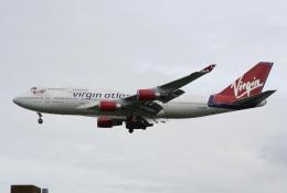 NIKEさんが、ロンドン・ガトウィック空港で撮影したヴァージン・アトランティック航空 747-4Q8の航空フォト(飛行機 写真・画像)