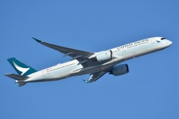 サンドバンクさんが、成田国際空港で撮影したキャセイパシフィック航空 A350-941の航空フォト(飛行機 写真・画像)