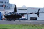 へりさんが、東京ヘリポートで撮影した日本フライトセーフティ R44 Raven IIの航空フォト(写真)