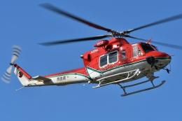 ブルーさんさんが、静岡ヘリポートで撮影した奈良県防災航空隊 412EPの航空フォト(飛行機 写真・画像)