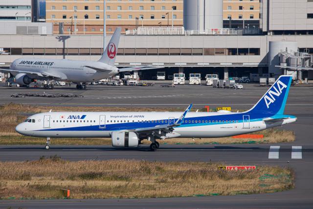 SGR RT 改さんが、羽田空港で撮影した全日空 A321-272Nの航空フォト(飛行機 写真・画像)
