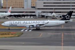 とらとらさんが、羽田空港で撮影したルフトハンザドイツ航空 A340-313Xの航空フォト(飛行機 写真・画像)