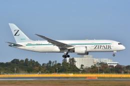 サンドバンクさんが、成田国際空港で撮影したZIPAIR 787-8 Dreamlinerの航空フォト(飛行機 写真・画像)