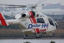 fewさんが、江戸川河川敷緑地 ヘリコプター臨時離発着場で撮影した朝日航洋 MD-900 Explorerの航空フォト(飛行機 写真・画像)