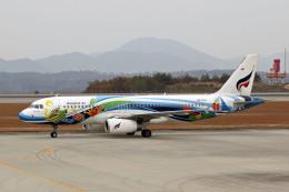 Gambardierさんが、広島空港で撮影したバンコクエアウェイズ A320-232の航空フォト(飛行機 写真・画像)