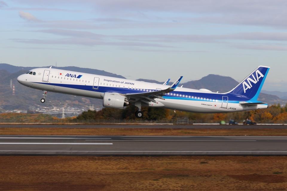 ぽんさんの全日空 Airbus A321neo (JA150A) 航空フォト