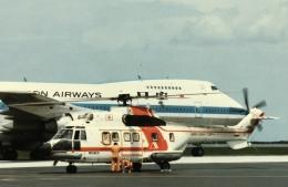 キャプジュニアさんが、那覇空港で撮影した朝日航洋 AS332L Super Pumaの航空フォト(飛行機 写真・画像)